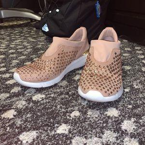 Michael Kors Pink Rhinestone embellished Sneakers